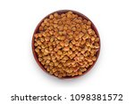 Small photo of chickpeas (Begal Gram) in wood bowl