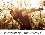single father carrying on...   Shutterstock . vector #1098392975