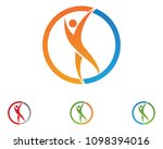 health success people care logo ... | Shutterstock .eps vector #1098394016