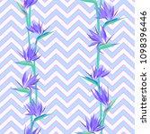 tropical flower bird of... | Shutterstock .eps vector #1098396446