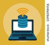 data center technology | Shutterstock .eps vector #1098398456