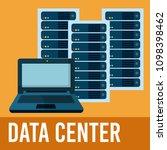 data center technology | Shutterstock .eps vector #1098398462
