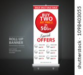 roll up banner design template  ... | Shutterstock .eps vector #1098403055