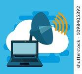 data center technology | Shutterstock .eps vector #1098405392