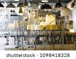 designer lamp with lights in... | Shutterstock . vector #1098418328