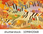 Musical Autumn Banner. Vector...