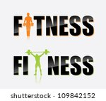 Gym Label   Vector Illustration