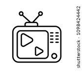 tv play icon | Shutterstock .eps vector #1098424442
