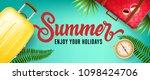 summer  enjoy your holidays... | Shutterstock .eps vector #1098424706