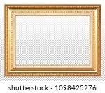 golden wooden frame isolated on ... | Shutterstock . vector #1098425276