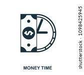 money time icon. flat style...