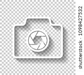 photo camera  linear symbol...