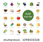 set of 33 vector icons... | Shutterstock .eps vector #1098433328