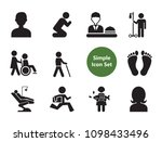 praying icons set with... | Shutterstock .eps vector #1098433496