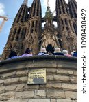 barcelona  spain may 2018 ... | Shutterstock . vector #1098438422