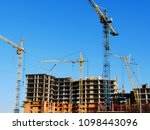construction site background.... | Shutterstock . vector #1098443096