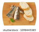 sardines with slices of bread... | Shutterstock . vector #1098445385