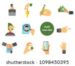 business hand icon set. thumb... | Shutterstock .eps vector #1098450395