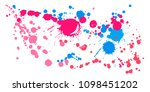 paint stains grunge background... | Shutterstock .eps vector #1098451202
