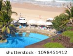 the hotel and beach   bali ... | Shutterstock . vector #1098451412