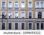 renovated vintage facade of the ... | Shutterstock . vector #1098455222