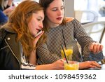 two young and trendy hipster...   Shutterstock . vector #1098459362