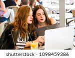 two young and trendy hipster...   Shutterstock . vector #1098459386