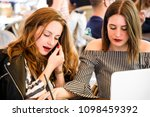 two young and trendy hipster...   Shutterstock . vector #1098459392