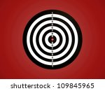 a target isolated against a red ... | Shutterstock . vector #109845965
