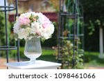 wedding gentle decoration | Shutterstock . vector #1098461066