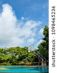 outdoor basketball court in the ...   Shutterstock . vector #1098465236