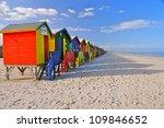 colored beach huts  cape town ... | Shutterstock . vector #109846652