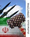 usa sanction against iran.... | Shutterstock . vector #1098472946