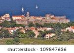 village of Collioure, Vermilion coast, Languedoc-Roussillon, France - stock photo