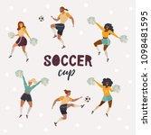 vector set with men and women... | Shutterstock .eps vector #1098481595