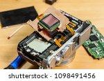 camera inside  parts of sensor... | Shutterstock . vector #1098491456