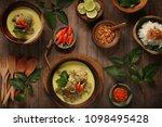 gulai kambing. traditional... | Shutterstock . vector #1098495428
