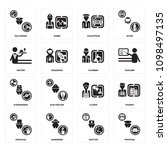 set of 16 simple editable icons ...   Shutterstock .eps vector #1098497135