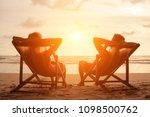 romantic holiday travel.... | Shutterstock . vector #1098500762