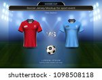football cup 2018 group a ... | Shutterstock .eps vector #1098508118