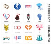 set of 16 simple editable icons ... | Shutterstock .eps vector #1098508892