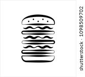 burger icon  fast food burger... | Shutterstock .eps vector #1098509702