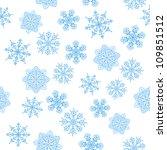 snowflakes seamless  christmas... | Shutterstock .eps vector #109851512