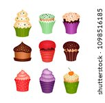 set of desserts. icons   Shutterstock .eps vector #1098516185
