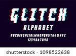 latin alphabet. trendy font... | Shutterstock .eps vector #1098522638