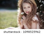 young beautiful child girl in... | Shutterstock . vector #1098525962