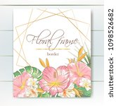 vector delicate invitation with ... | Shutterstock .eps vector #1098526682