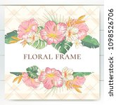 vector delicate invitation with ... | Shutterstock .eps vector #1098526706