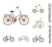 various bicycles cartoon icons... | Shutterstock .eps vector #1098526922