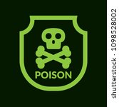 poison and shield.protection... | Shutterstock .eps vector #1098528002